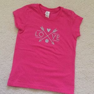 Other - Pink girl tennis love tee
